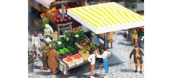 busch 1071 Étal de fruits, de légumes et de miel modelisme ferroviaire