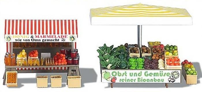 diorama busch 1071 Étal de fruits, de légumes et de miel DIORAMA