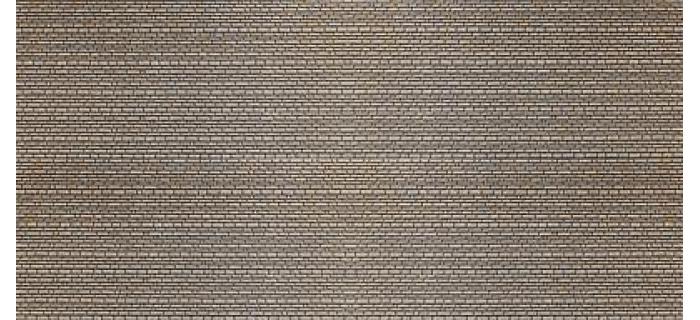 Modélisme ferroviaire : FALLER F222567 - Plaque de décor, mur en pierres naturelles taillées