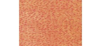 Modélisme ferroviaire :  FALLER F222568 - Plaque de décor, mur en briques