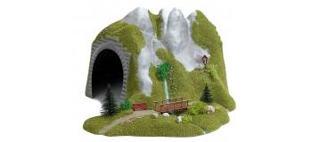 modelisme ferroviaire  busch 3016TUNNEL AVEC RIVIERE ET PONTON *