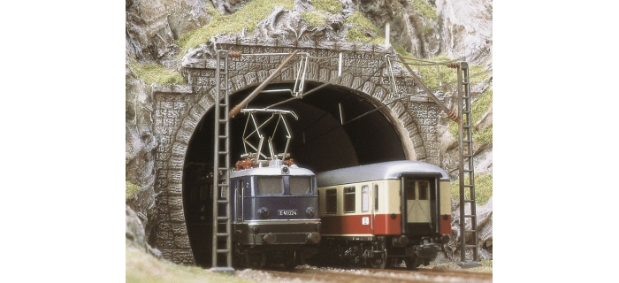 busch 7027 ENTREES TUNNEL HO DOUBLE VOIE
