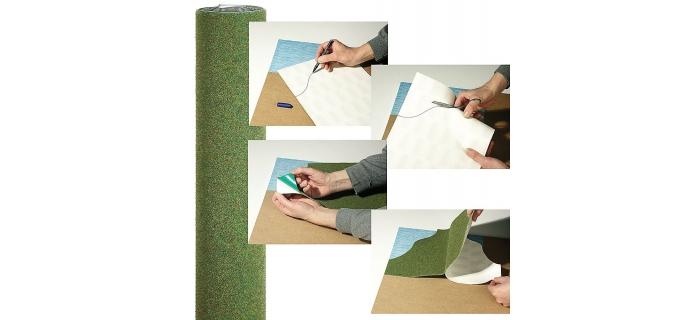 modelisme ferroviaire busch 7261 7293 TAPIS decor herbe