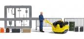 Modélisme ferroviaire :  BUSCH BU7805 - Set rouleau compresseur