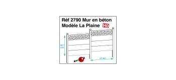 Modélisme ferroviaire : DECAPOD DECA2790 - Mur en béton modèle La Plaine