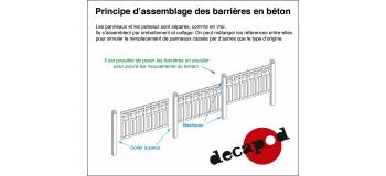 DECAPOD DECA2792 - Mur en béton modèle Margny