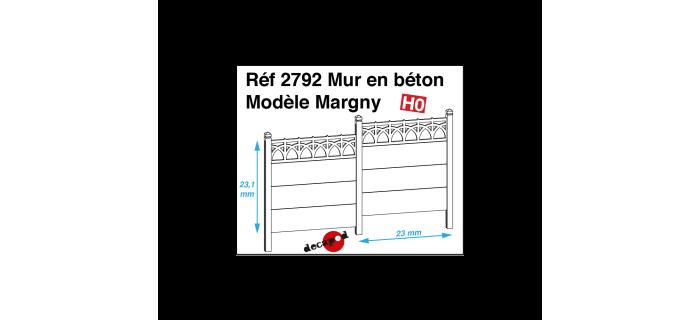 Modélisme ferroviaire : DECAPOD DECA2792 - Mur en béton modèle Margny