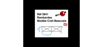 Modélisme ferroviaire : DECAPOD DECA2841 - Rambardes modèle Creil-Beauvais