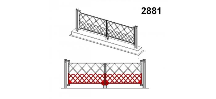 Modélisme ferroviaire : DECAPOD DECA2881 - Portail PN 4m