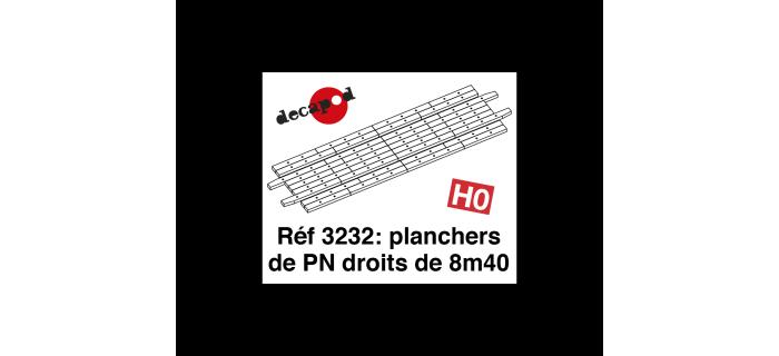 Modélisme ferroviaire : DECAPOD DECA3232 - Planchers de PN droits de 8m40