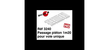 Modélisme ferroviaire : DECAPOD DECA3240 - Passage piéton 1m20 pour voie unique