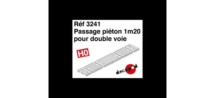 Modélisme ferroviaire : DECAPOD DECA3241 - Passage piéton 1m20 pour double voie