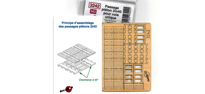 DECAPOD DECA3242 - Passage piéton 2m40 pour voie unique