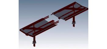 DECA2631 - Abri parapluie moderne : 2 éléments d'extrémité - Decapod
