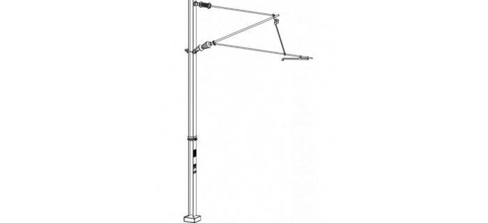 DECA3601 - Poteau caténaire simple, tension ou compression - Decapod