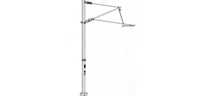 DECA3601.03 - 3 poteaux caténaires simples, tension ou compression - Decapod