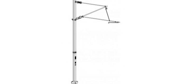 DECA3601.24 - 24 poteaux caténaires simples, tension ou compression - Decapod