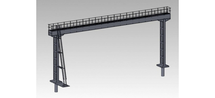 DECA4124 - Portique soudé pour 5 voies (poutre de 23m75) - Decapod