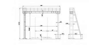 DECA4129 - Portique riveté pour 2 voies (poutre de 12m) - Decapod