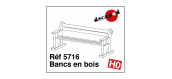 DECA5716 - Bancs en bois - Decapod