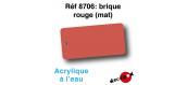 DECA8706 - Brique rouge (mat), Peinture acrylique à l'eau - Decapod