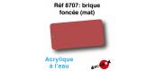 DECA8707 - Brique foncée (mat), Peinture acrylique à l'eau - Decapod