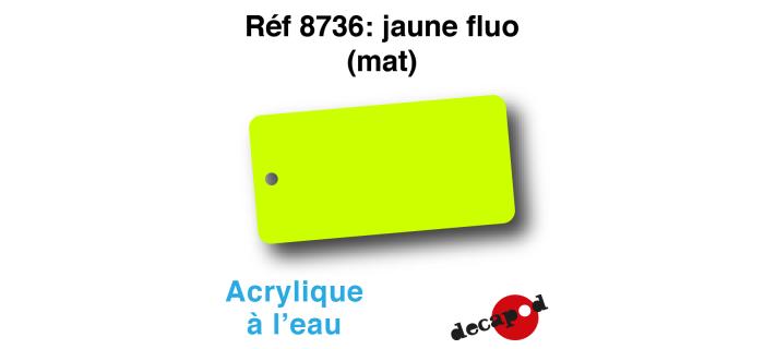 DECA8736 - Jaune fluo (mat), Peinture acrylique à l'eau - Decapod