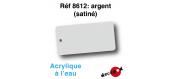 DECA8612 - Argent (satiné), Peinture acrylique à l'eau - Decapod