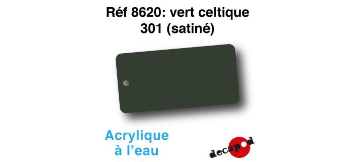 DECA8620 - Vert celtique 301 (satiné), Peinture acrylique à l'eau - Decapod