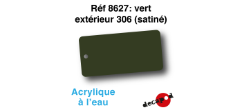 DECA8627 - Vert extérieur 306 (satiné), Peinture acrylique à l'eau - Decapod