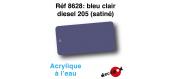 DECA8628 - Bleu clair diesel 205 (satiné), Peinture acrylique à l'eau - Decapod