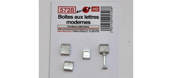 Modélisme ferroviaire : DECAPOD DECA5728 - Boîtes aux lettres modernes