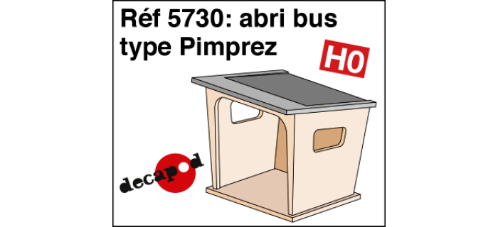 DECAPOD DECA5730 - Abris bus type Pimprez
