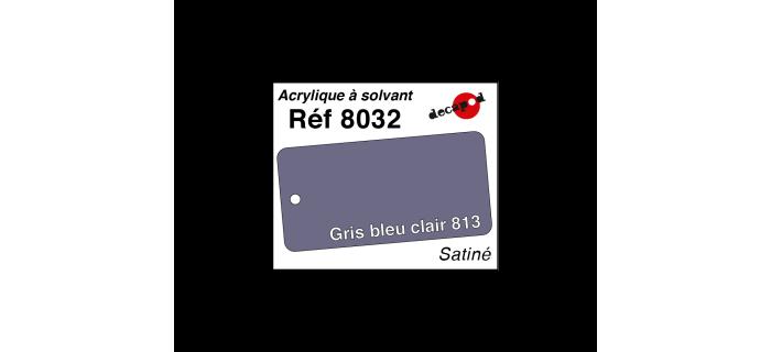 Modélisme ferroviaire : DECAPOD DECA8032 - Peinture acrylique à solvant Gris bleu clair 813