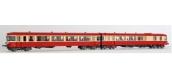 Train électrique : LS MODELS 10035- Autorail diesel EAD X4512 + XR8512 SNCF rouge/crème