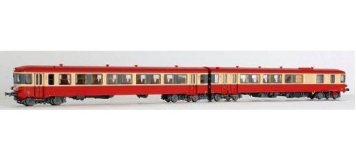 Modélisme ferroviaire : LS MODELS 10036- Autorail diesel EAD X4400 + XR8300 SNCF rouge/crème