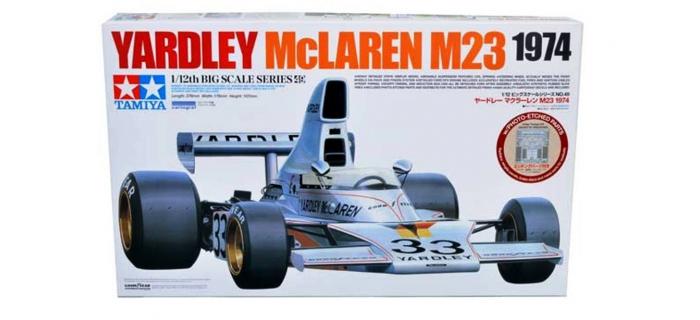 Maquettes : TAMIYA TMA12049 - Yardley McLaren M23 1974