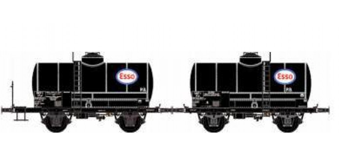 Train électrique : LS MODELS 330442 - Set deux wagons citernes
