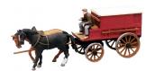 Train électrique : ARTITEC ART38764 - Charrette de fermier fermée à deux chevaux 1/ 87