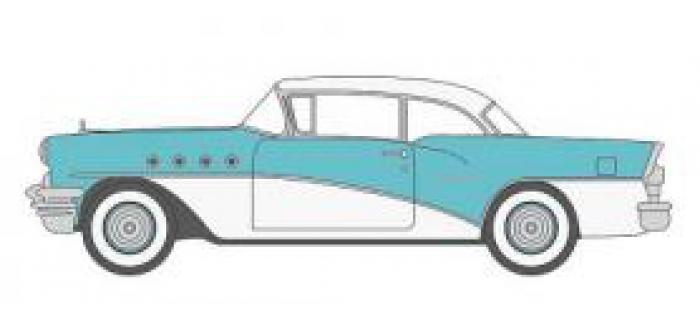 Modélisme ferroviaire : OXFORD OX55001 - Buick Century 1955 bleu - blanc