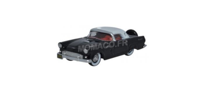 Modélisme ferroviaire : OXFORD OX56006 - Ford Thunderbird 1956 noir - blanc