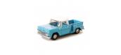 Modélisme ferroviaire : OX65001 - Chevrolet Stepside Pick up 1965 Bleu - Blanc