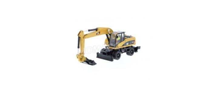 Modélisme ferroviaire : DM85177 - Véhicule de chantier Caterpillar M318D Pelle sur pneus avec figurine