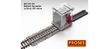 Modélisme ferroviaire : PROSES BS-HO-01 - Épandeur de ballast avec robinet d'arrêt