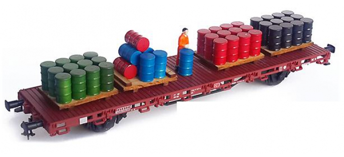 Modélisme ferroviaire : PROSES HL-K-07 - Bidons en aluminium pour wagons plats