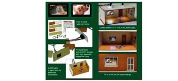 Modélisme ferroviaire : PROSES LS-008 - 2 chambres décorées avec télévision à écran plat