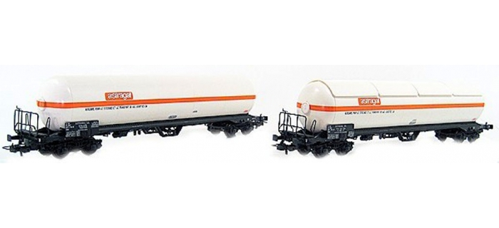 Train électrique : LS MODEL -LSM30188 - Coffret de 2 wagons citerne ASTRAGAL