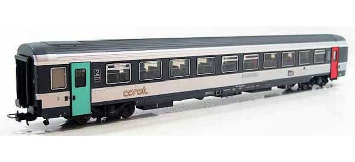 Train électrique :  LS MODEL -LSM40272 - Voiture VTU mixte première/seconde classe corail SNCF
