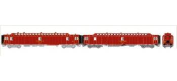 LS MODEL -LSM40413 - Coffret de 2 voitures PTT livrée brun SNCF, Ep. IV