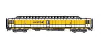 Train électrique :  LS MODEL -LSM40417 - Voiture OCEM livrée jaune/blanc, toit gris, logo